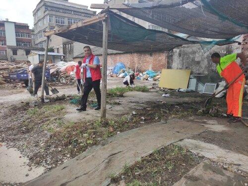 瓯海区城市建设中心赴娄桥前园村助力文明城市创建工作