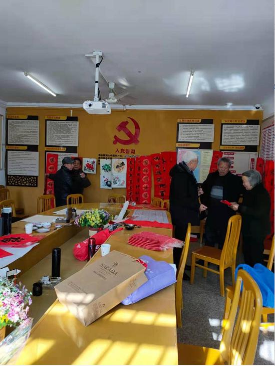 """泽雅社区开展""""写春联、送春联活动"""""""
