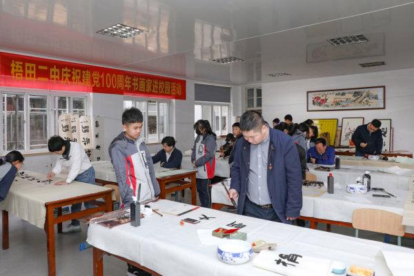 瓯海:庆建党百年 书画进校园