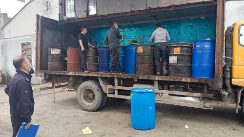 瓯海区生态环境分局有效处置危废