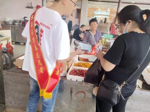 仙岩街道禁毒办开展农贸市场禁毒宣传活动