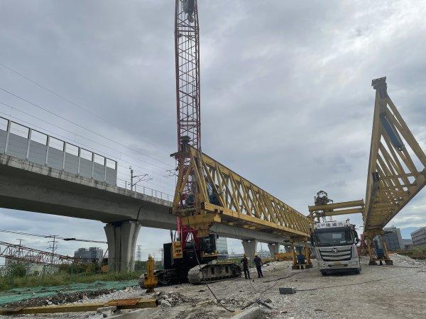 预计年底通车,温州高新区铁道南路项目顺利架桥!